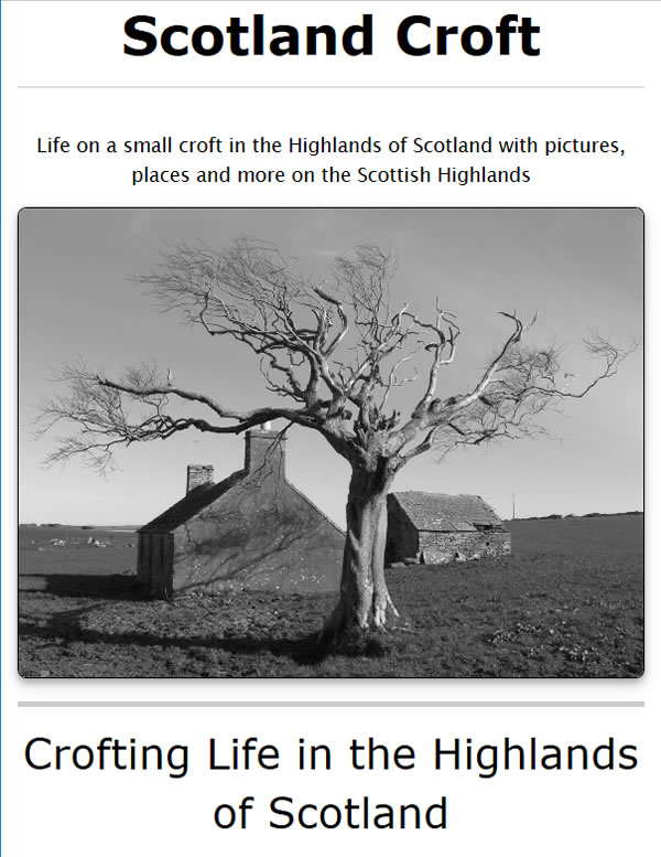 Scotland croft - living on a highland croft in the north of Scotland
